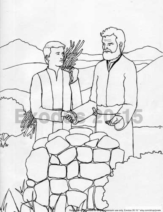 abraham and isaac sacrifice coloring pages | Abraham and Isaac Sacrifice Bible Colouring Page