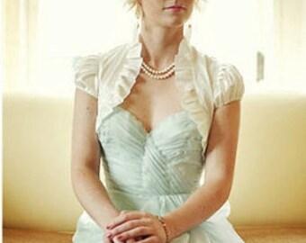 SPECIAL PRICE Sweet Dream dupioni silk bridal bolero jacket wedding bolero jacket wedding shrug bolero