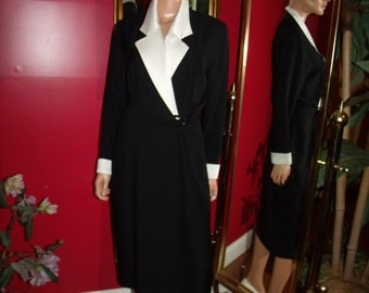 Vintage Flapper Dress  does  style T Ford Teacher Office Lady  Size 8