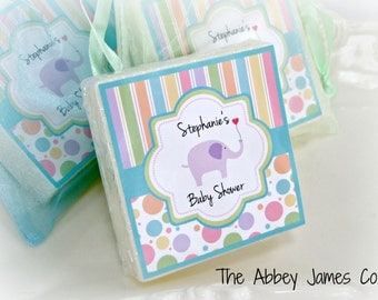Baby  Shower Favors,  Elephant Baby Shower Favors,  set of 10