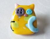 Lampwork Cat Kitten Bead Sunny Ragamuffin Kooky Kitten by keiara SRA