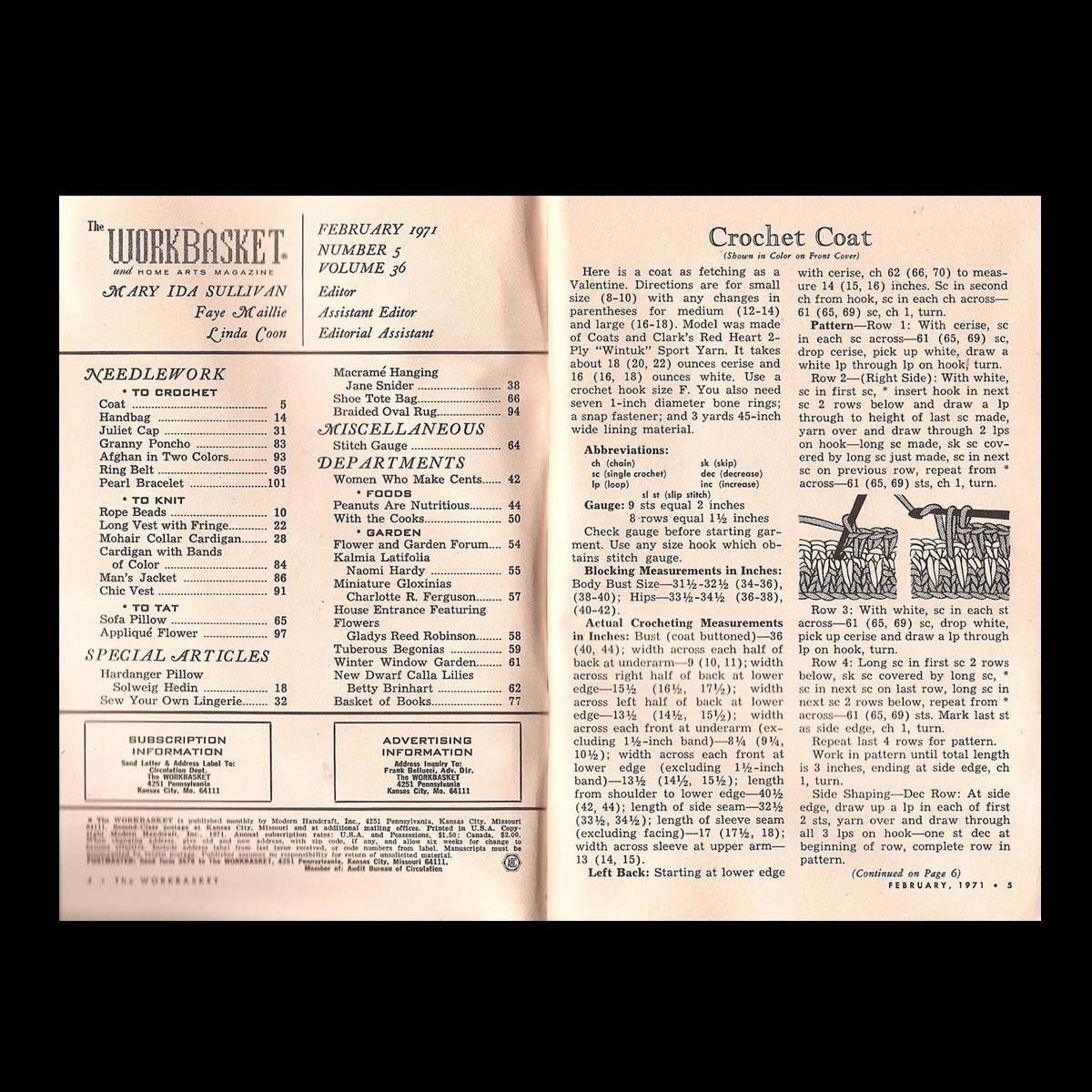 The workbasket vintage craft magazine c february 1971 number sold by undoneeclectic bankloansurffo Choice Image