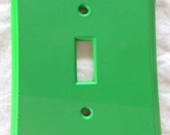 GRANNY SMITH  -- painted resin light switch plate