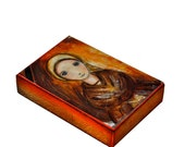 Saint Bernadette -  Giclee print mounted on Wood (6 x 8 inches) Folk Art  by FLOR LARIOS