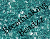 CLEARANCE Swarovski Beads Crystal Bead 50 Indicolite 4mm Bicone 5328 Many Colors In Stock,os