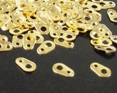 Chain Tab Connector 200 Shiny Gold Color Tag Connector 6.5mm (1013con06d1)