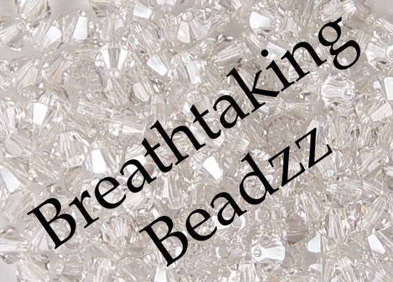 Swarovski Beads Crystal Bead 50 Crystal Silver Shade 4mm Bicone 5328 Many Colors In Stock ... last remaining packages