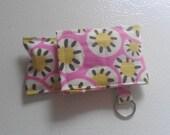 Amy Butler Daisy Fabric Chapstick Case Cozy USB Keychain