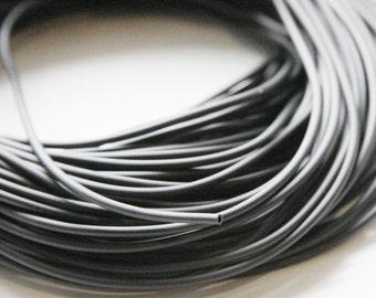 5 Meters Beadalon Rubber Tubing Cord 1.7mm - Black (4002)