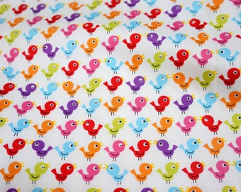 Japanese fabric  birds print   (n451)