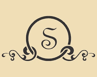 Unique Monogram Custom Rubber Stamp Design R061