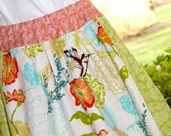 Sale...Child skirt, Bluebird skirt with pockets. Only 1 available