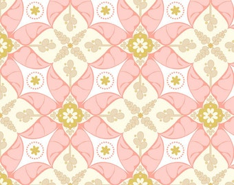 Clearance FABRIC Calliope Sweet Rose Squares by Riley Blake 1/2 Yard