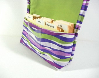 Coupon Holder, Coupon Wallet, Coupon Organizer, Ready to ship Purple and green stripes