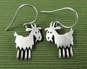 Tiny goat earrings