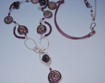 Magenta Nautilus Necklace - as seen in May's Bead Trends Magazine