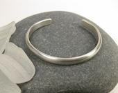 Heavy Narrow Sterling Silver Cuff Bracelet small