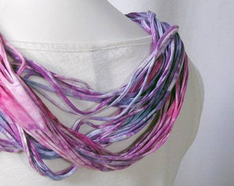 The Soba Scarf in Pink, Purple Petunia, and Periwinkle