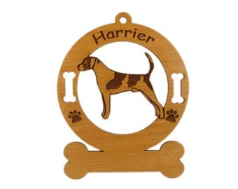 3338 Harrier Standing Personalized Dog Ornament