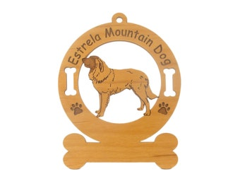 3177 Estrela Mountain Dog Standing Personalized Wood Ornament - Free Shipping
