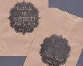 Candy Buffet Bag, Kraft Paper Bag, Custom Candy Bag, Cookie Bag, Candy Bag, Favor Bag, Treat Bag, Personalized, Chalkboard, Chalk Set of 25