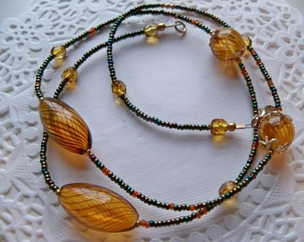 AMBER HOLLOW GLASS Necklace