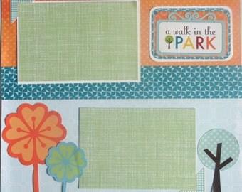 SUMMER TIME 12 x 12 premade scrapbook page - Summer park