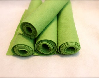 Mini Roll of Chartreuse Wool Blend Felt
