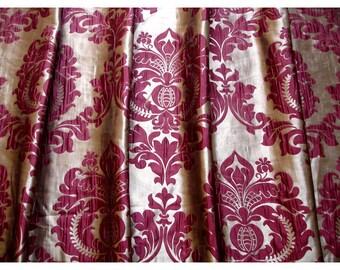 Ruby gold damask curtain panels 52 quot x84 quot grommet drapes home living
