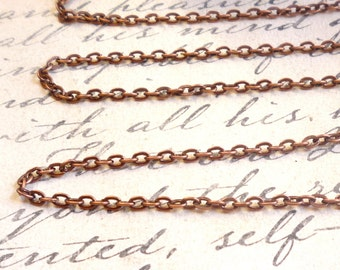 Bulk 100 Feet FT Full Spool Cable Chain Antique Rose Gold Copper Wholesale
