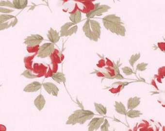Shabby Chic - Petals  by Tanya Whelan -Scattered Roses TW58 Pink, by the yard