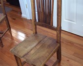 Reclaimed Antique Barn Wood Rustic Spindle Back Chairs