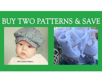 Instant Download - Buy Donegal Cap and Figure Skates Crochet Patterns and Save