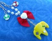 Mario Nintendo 64 Controller Gamer Girl Necklace