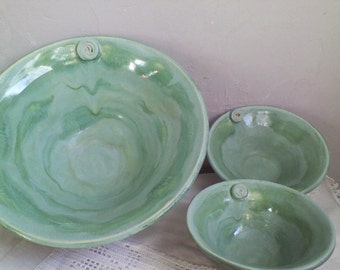 Three Piece Chip and Dip Serving Bowls