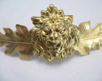 Lion hair clip, french back hair barrette Hair accessories leaf barette hair accessories thick hair barrette