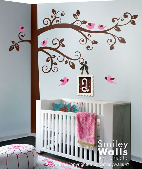 Corner tree wall decal hd images