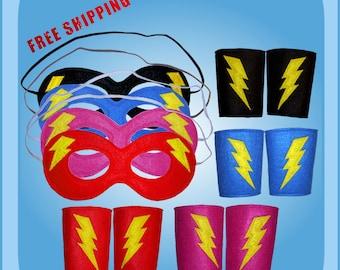 Super Hero Power Cuffs and Mask Set
