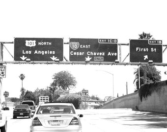 Freeway art photography print ... Cesar Chavez Ave. -- Signed 8 x 10 Glossy Print