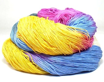 300 Yards Hand Dyed Cotton Crochet Thread Size 10 3 Ply Specialty Thread Yellow Blue Fuchsia Dark Plum Gray Hand Painted Fine Cotton Yarn