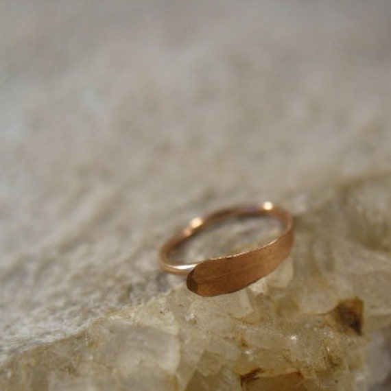 thin nose rings 14k pink gold filled flat by mysticmoons