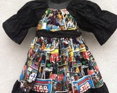 SALE Star Wars peasant dress size 6-12 month through 8 years