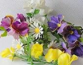 Vintage Plastic Variety Summer Flowers--Circa 1970