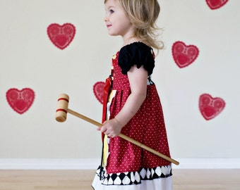 Queen of Hearts Play Dress - 12 months - 8 girls - Product ID #QOHPD200