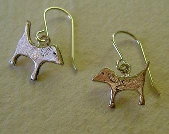 Pendientes perrito colgantes/ Hanging little dog earrings