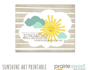 8x10 You Are My Sunshine - Digital Art Printable (300dpi .JPG File to Print On Your Own) Instant Download