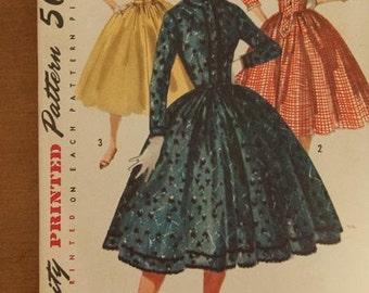 Simplicity 1722 Vintage Pattern - Bust 36 Sz 16 Dress 50s Amazing Party Dress Uncut