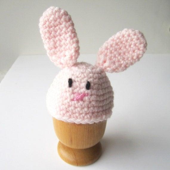 Etsy Amigurumi Bunny : Pink Bunny Crochet Amigurumi Egg Cosy by ilovehearts on Etsy