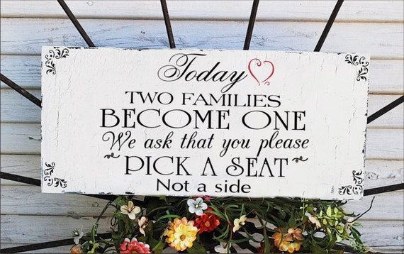 Items Similar To No Seating Plan Sign Wedding Sign 20x9