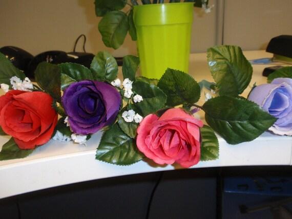 12 Silk Flower Pens -   Roses Buds